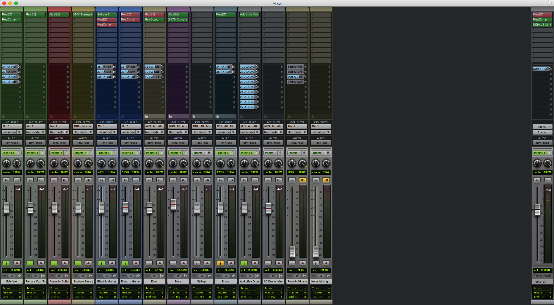 REAPER Themes, Configurability - Recording, Mixing and